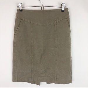 Banana Republic Fitted Mini Skirt Stretch Tan
